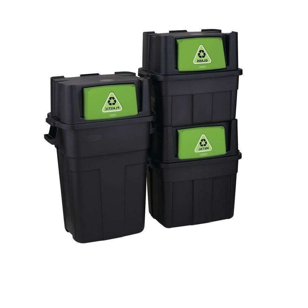 Stackable Indoor Garbage Bin Can PLASTIC / METAL