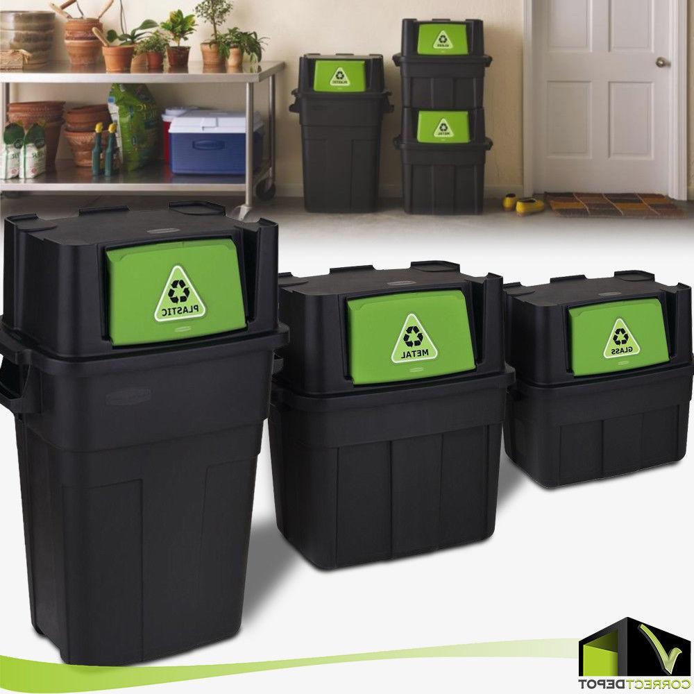 stackable indoor recycling garbage bin waste trash