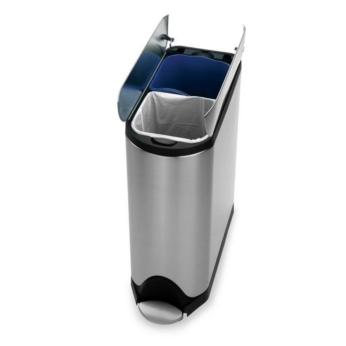 stainless steel home recycler trash garbage can