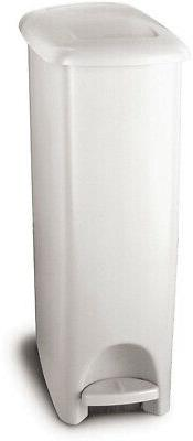 Rubbermaid Step-On Lid Slim Trash Can for Home, Kitchen, and