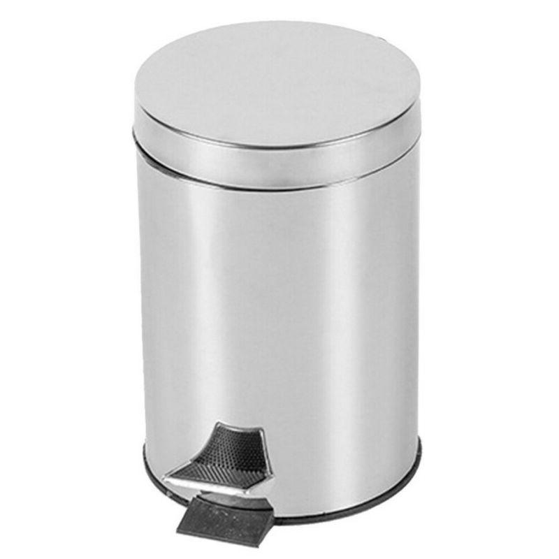 step on stainless steel pedal trash can