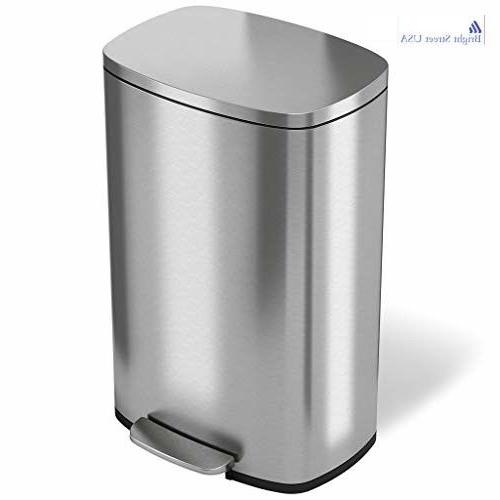 Step Pedal Garbage Bin, Step Trash Can with Odor Filter Inne