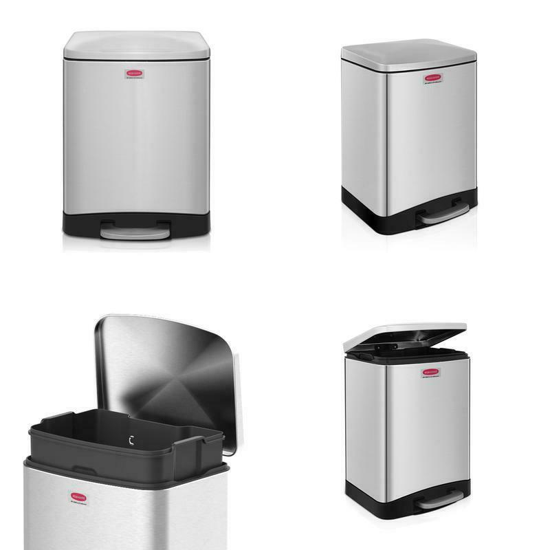 step trash can rectangular style garbage bin