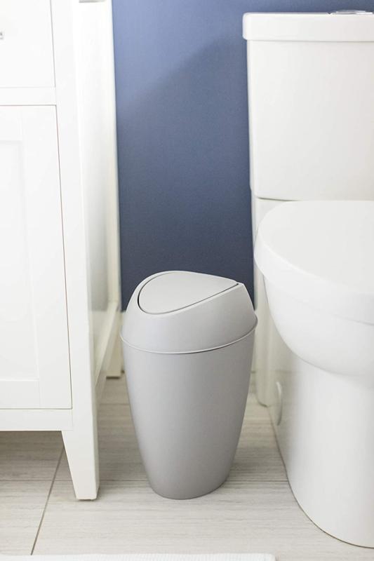 Swing Top Lid Bathroom Waste Basket