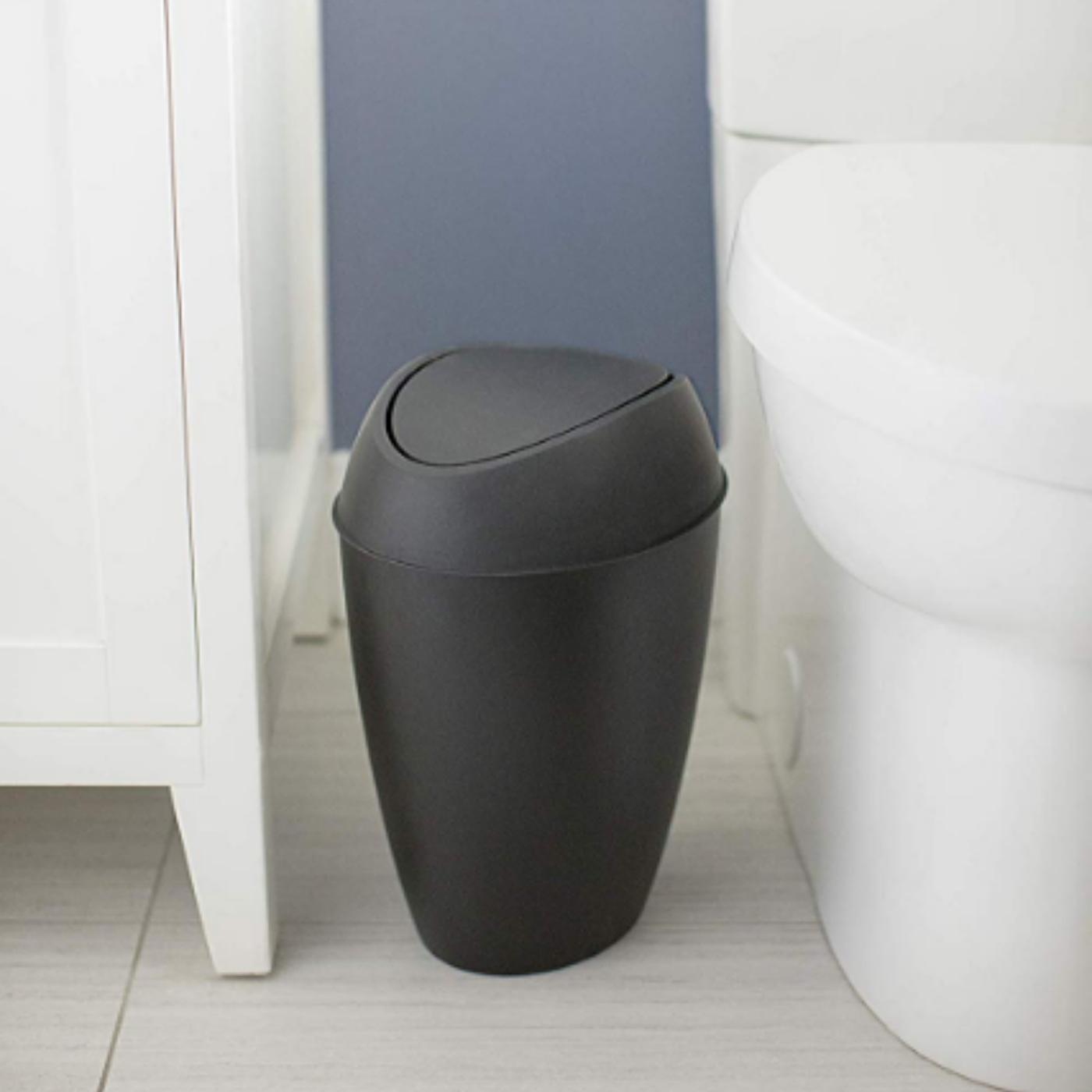 Swing Lid Kitchen Bathroom Office Trash Waste Basket