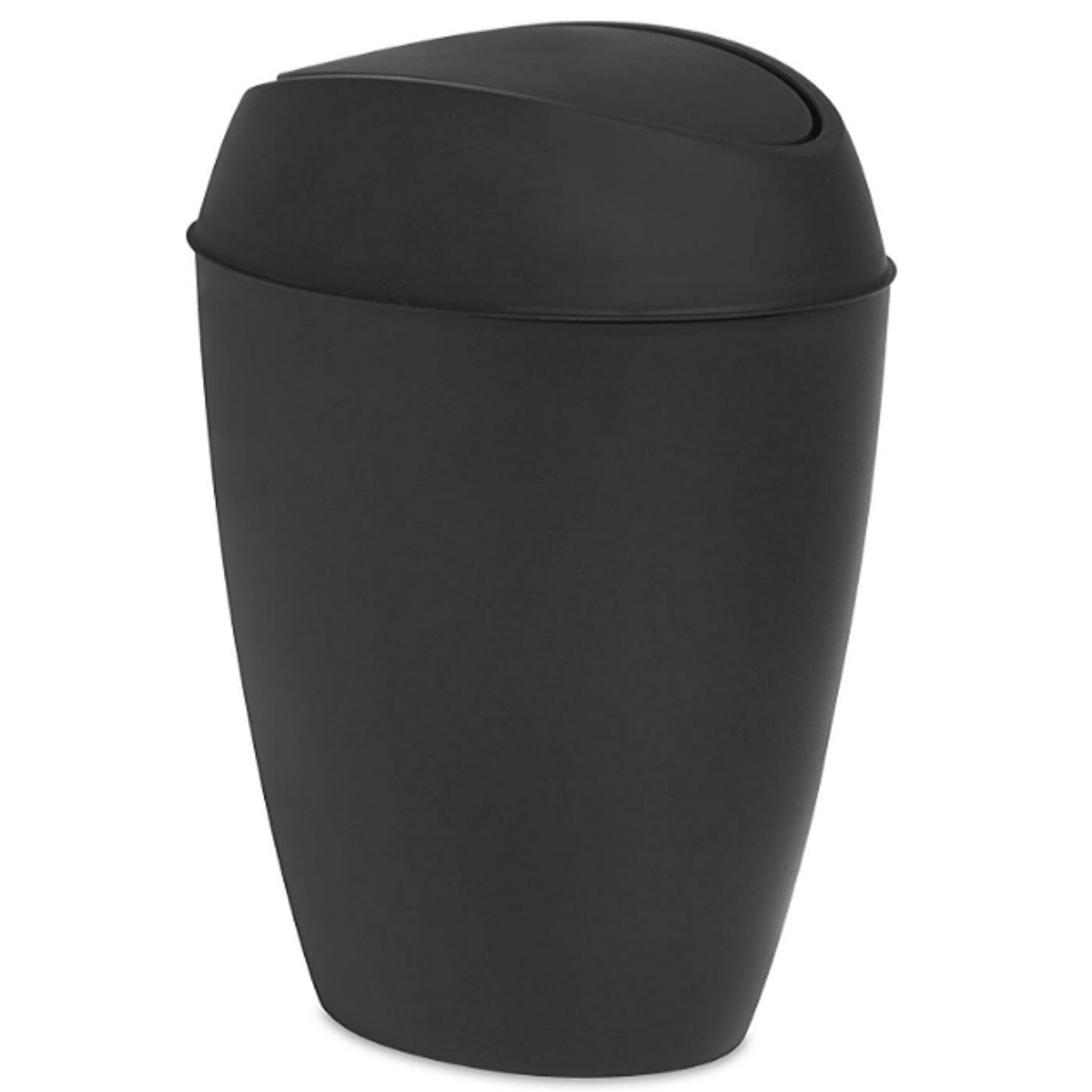 Swing Top Lid Bathroom Trash Garbage Waste Can Basket