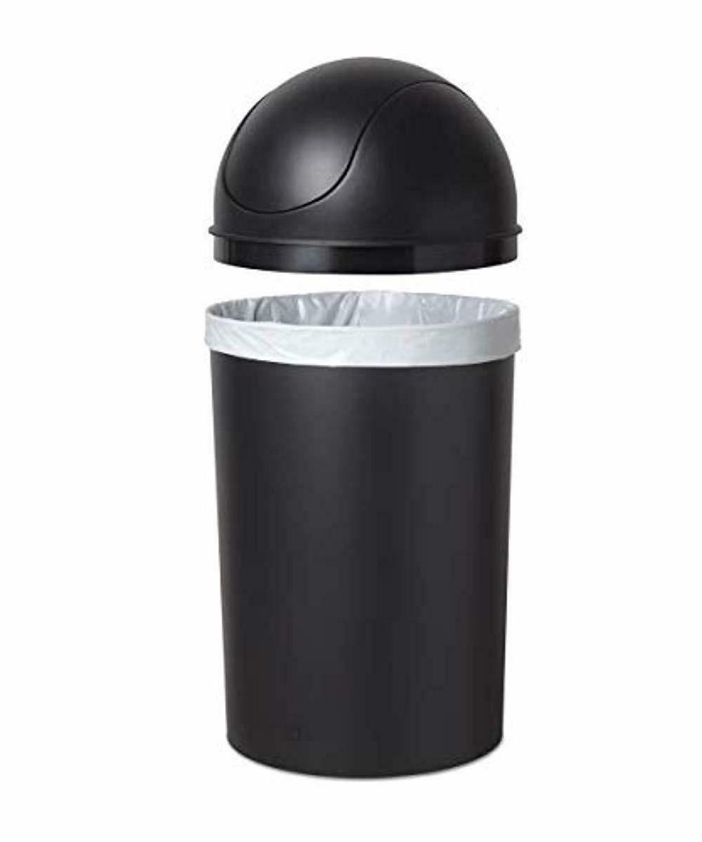 Swing Top Trash Lid Home Waste Garbage Basket 10 Gallon