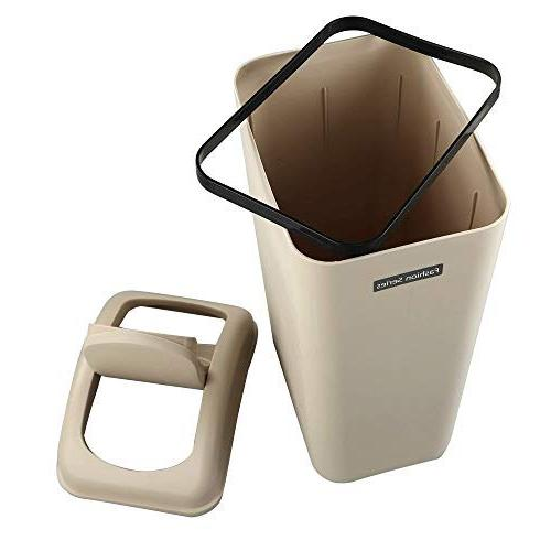 Utiao Trash Cans, 2.6-3 Gallon Garbage for Office, Bathroom