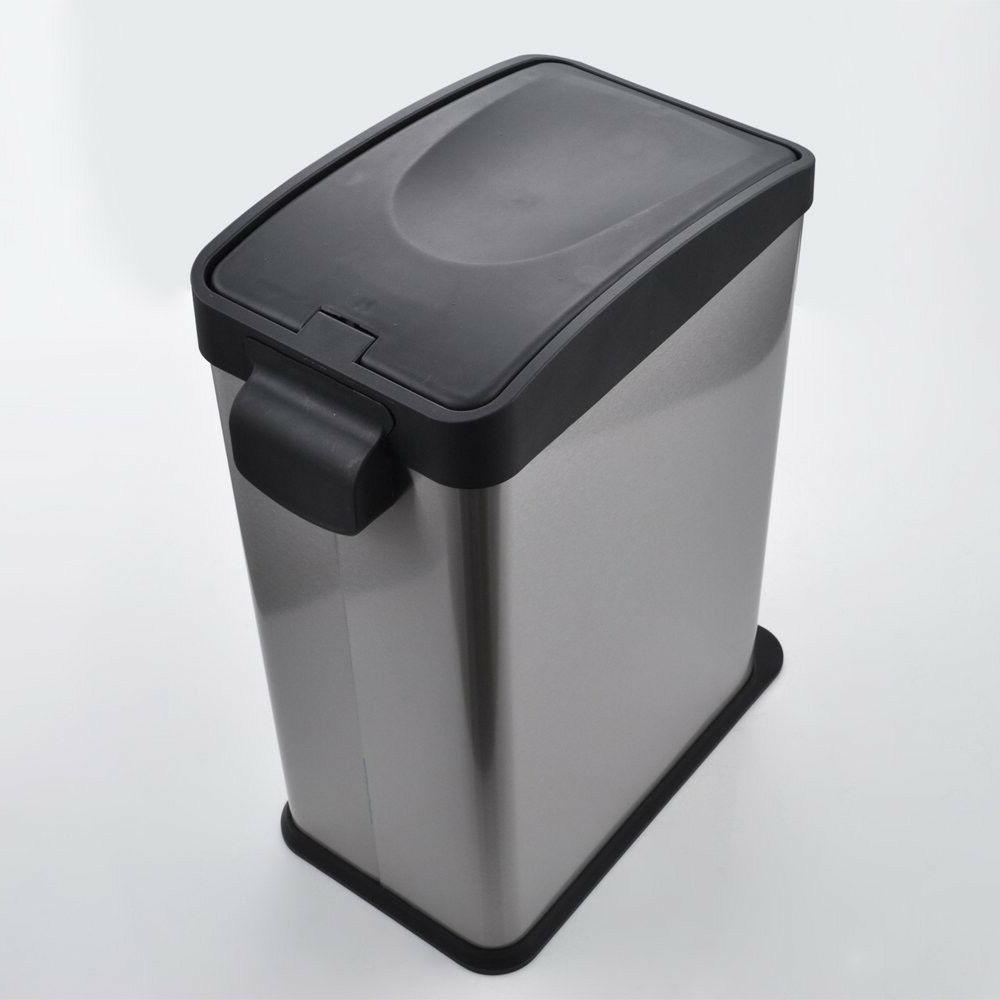 Tall Kitchen Trash Step Stainless Garbage Basket Home Gallon