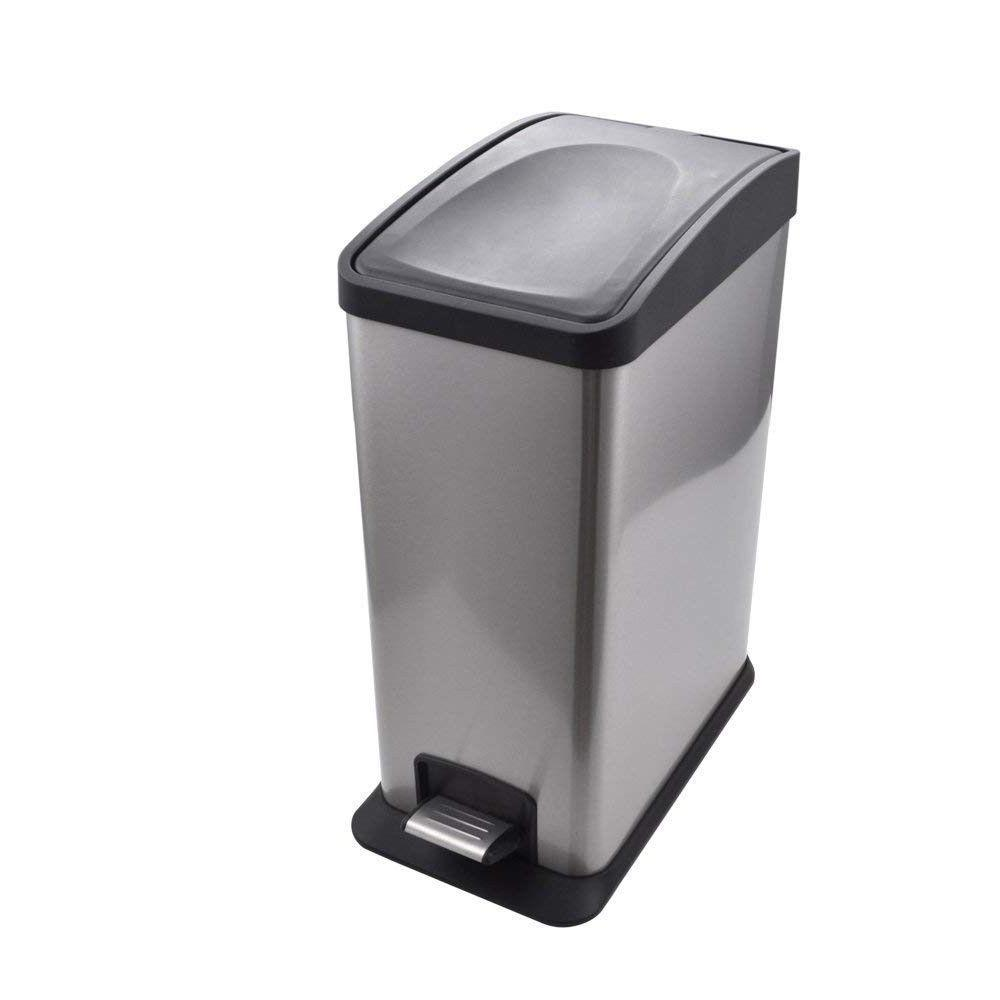 tall kitchen trash can step stainless steel