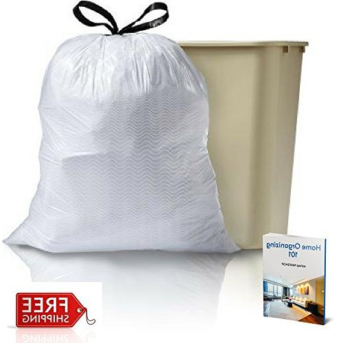 Tall Scented Kitchen Trash Bags Drawstring Disposable Plastic