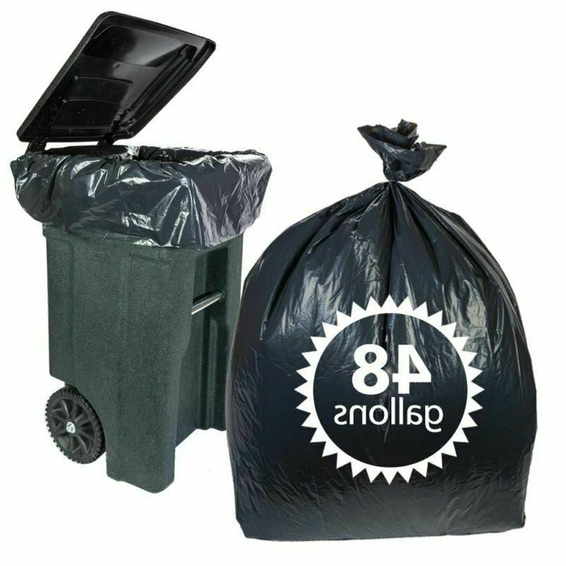 Toter 48 Gallon Trash Bags 50 Count Heavy Duty Black Garbage