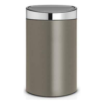 touch bin wastepaper garbage can platinum lid