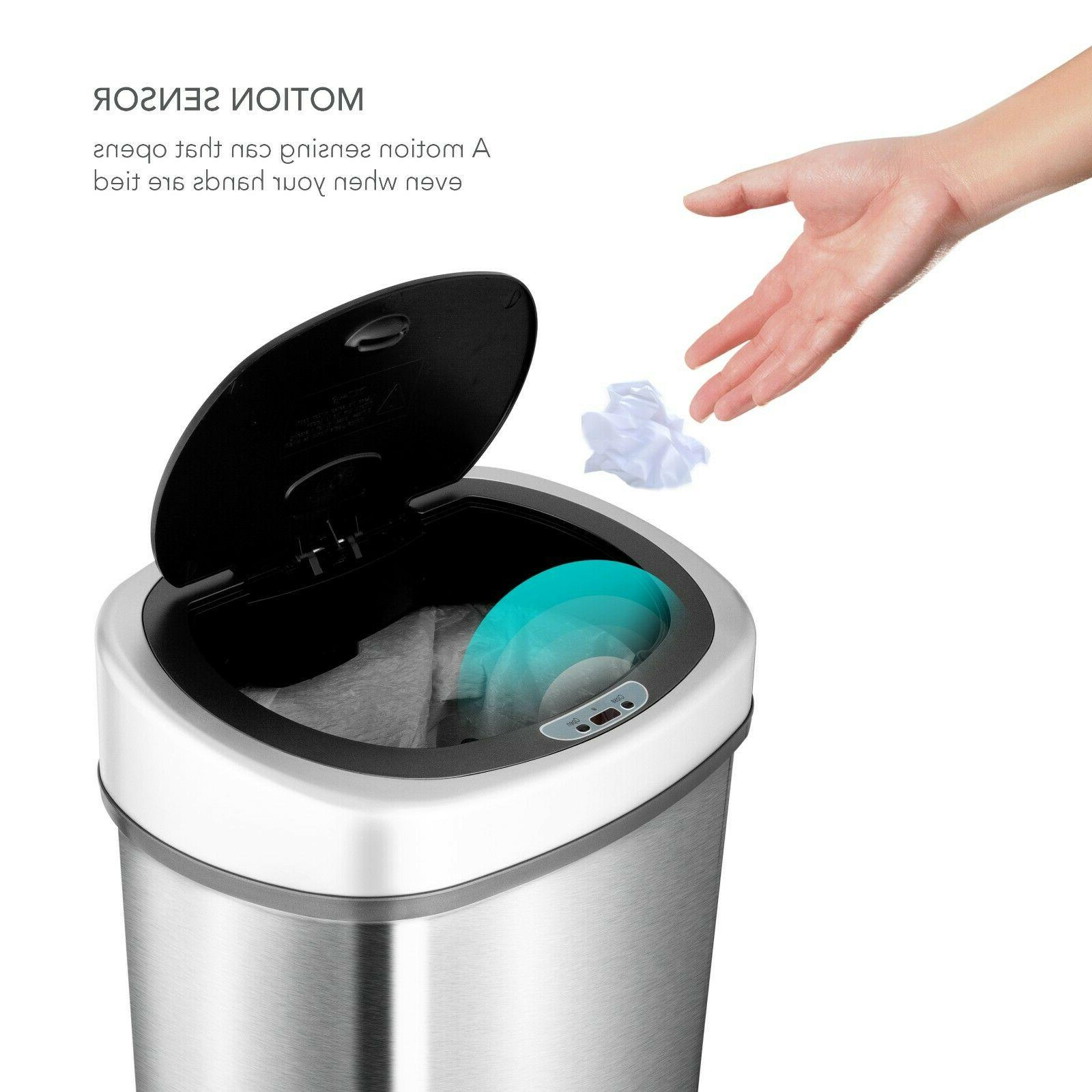 Touchless Steel Trash Can Garbage New Motion Sens