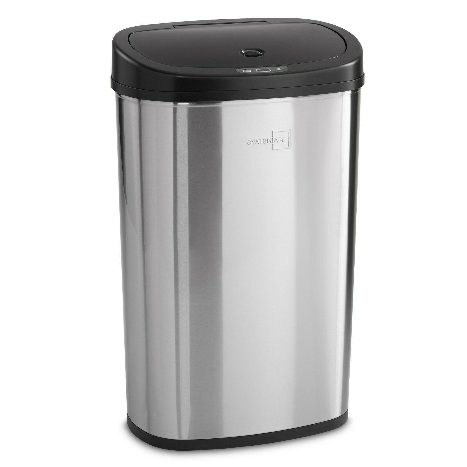13 Trash Motion Sensor Stainless Kitchen Garbage Lid