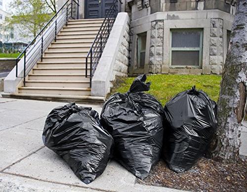 Trash Bags 95-96 Gallon, Large Heavy Bags, Mil, 25/Coreless Roll, Black