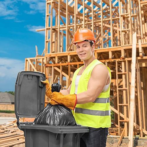 "Trash Bags 95-96 Large Heavy Duty Bags, 2 Roll, 61"" Black"