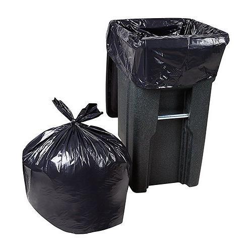 "Trash Bags Large Heavy Duty Bags, Mil, 25/Coreless Roll, 61"" Wx68 H, Black"