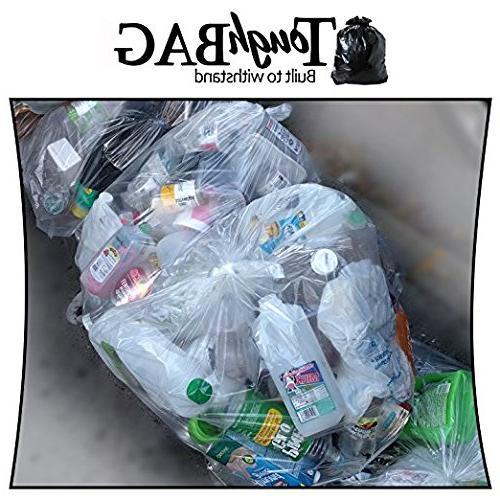 ToughBag 55 Gallon Bags, Recycling Trash Bags,