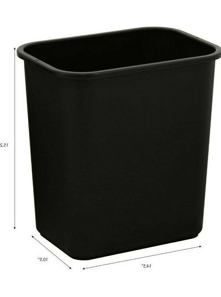United Trash 7 Blk Rectangular Waste Garbage