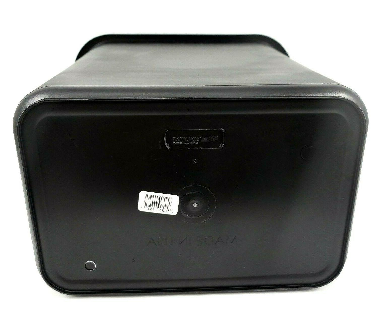 United Solutions Can 7 Plastic Blk Rectangular Waste