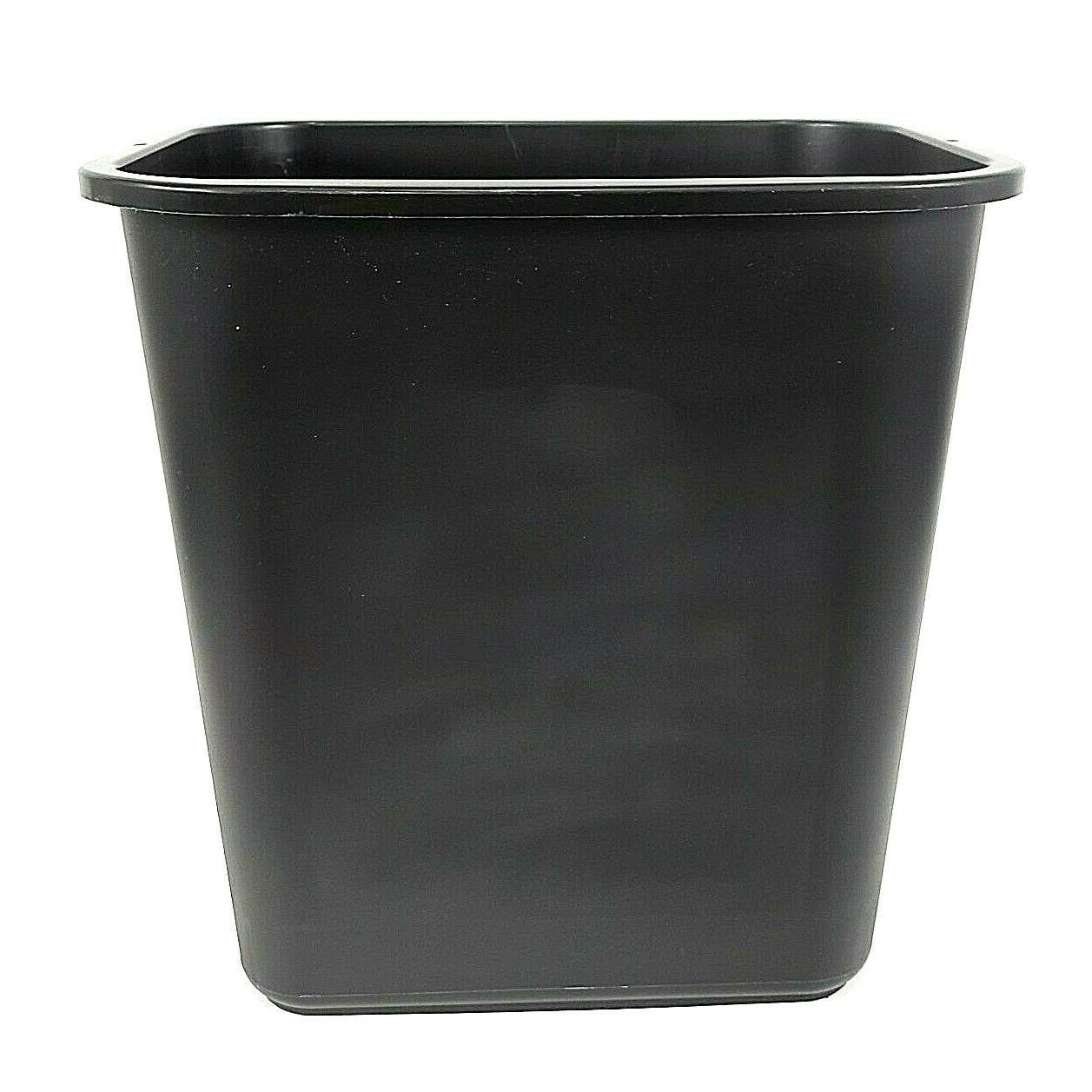 trash can 7 gal plastic blk rectangular