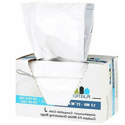 Plasticplace Trash Can Bags Garbage Liners 38-40L