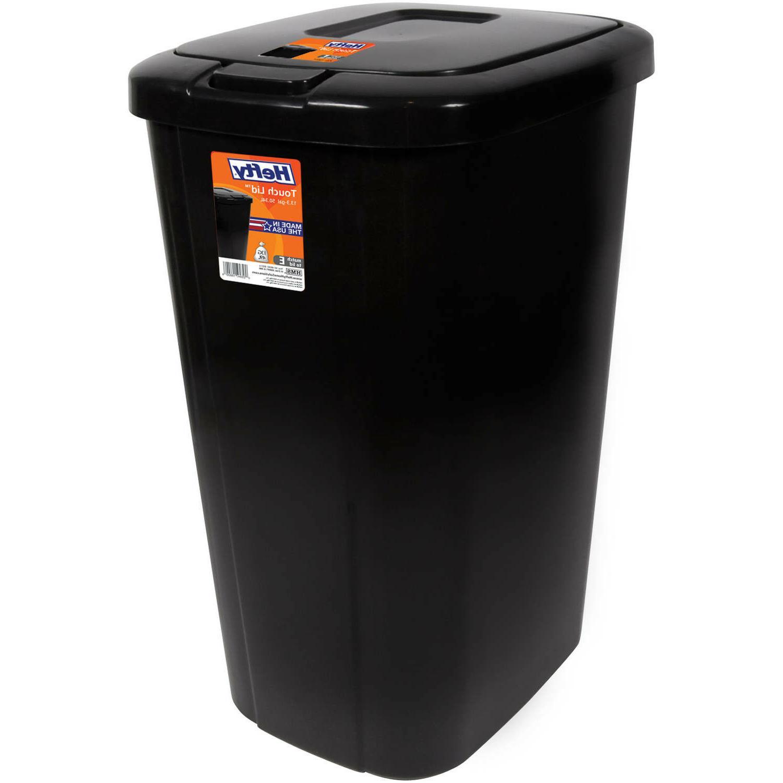 trash can garbage 13 gallon bin touch