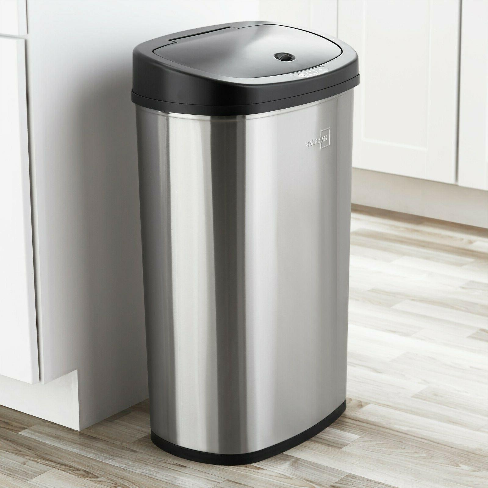 Trash Garbage Automatic Motion Stainless Touch Free