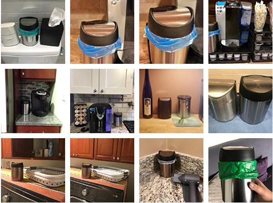 Trash Can Bag Dustbin Recycle Bin Stainless Steel