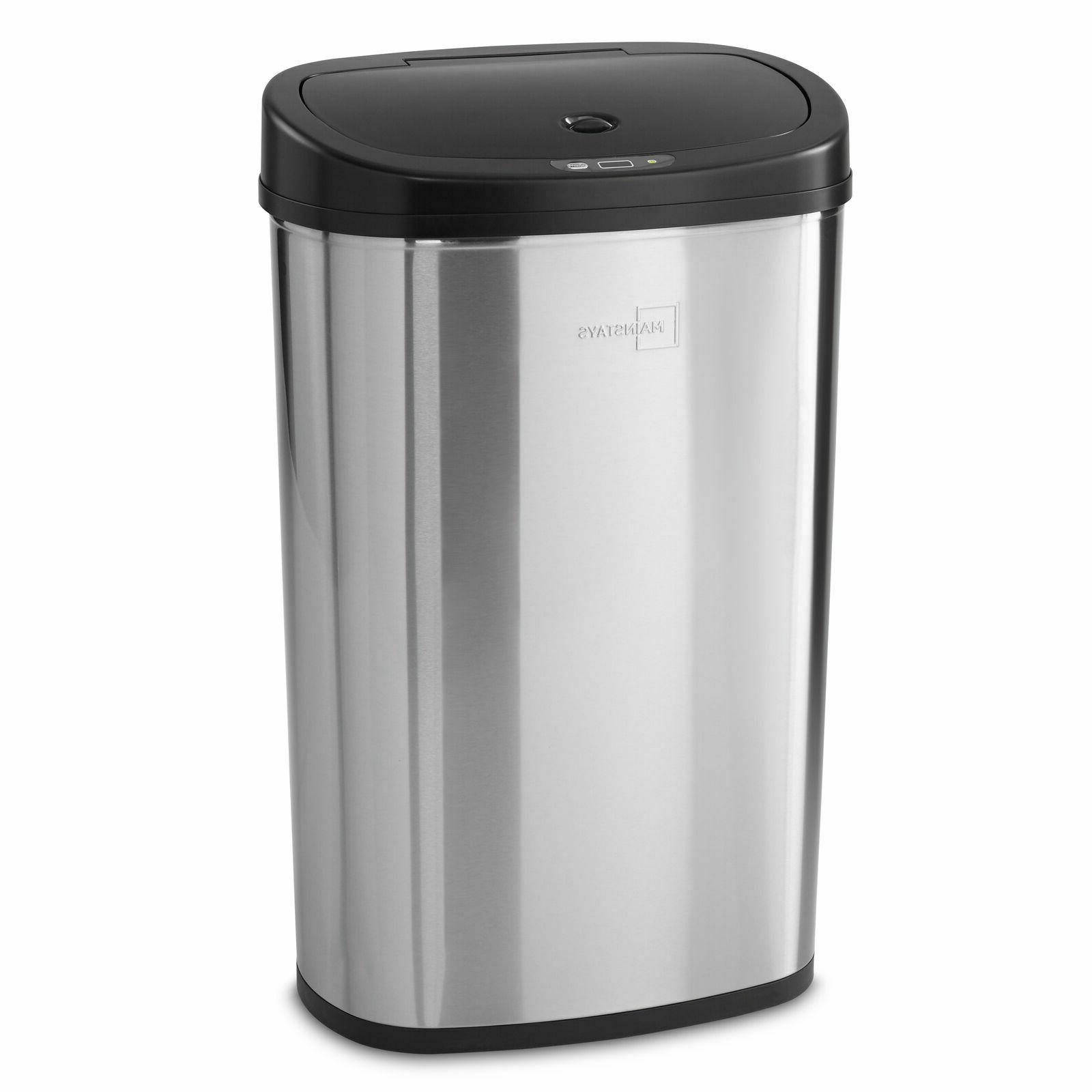 Trash Can Garbage Touchless Sensor Automatic Stainless Steel
