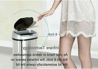 Trash Sensor Automatic Steel Touch Free Motion
