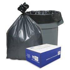 "Trash Can Liners, 55-60 Gal, 1.55 mil, 39""""x56"""", 50/CT, Gra"