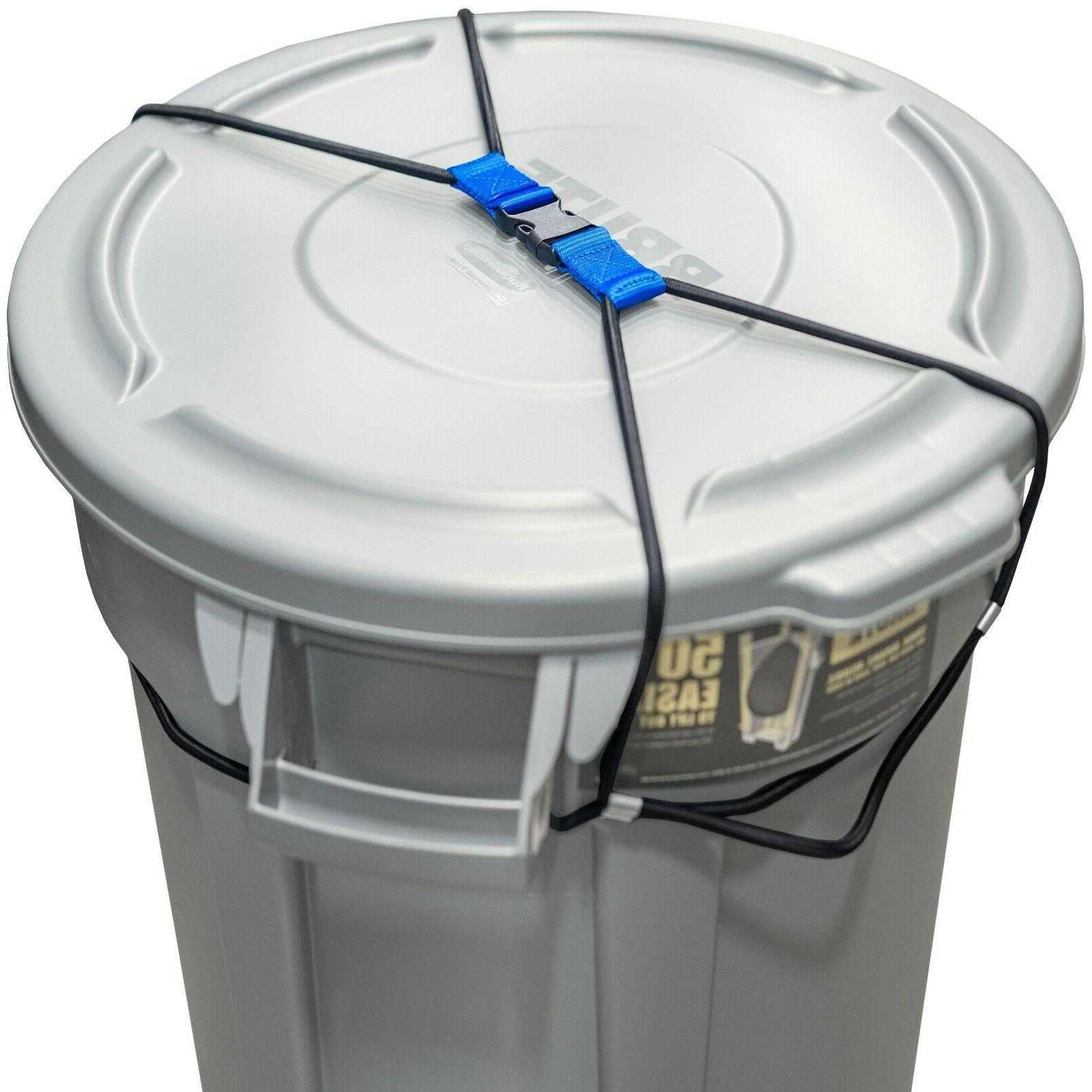 trash can lock for animals raccoons bungee