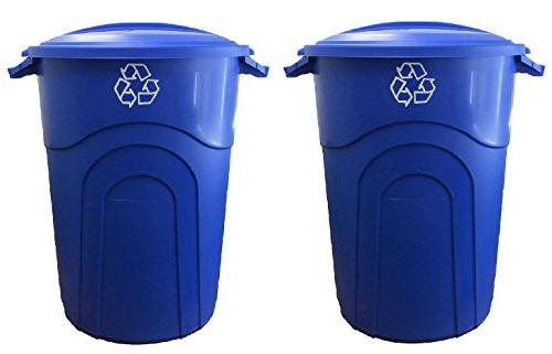 trash can recycling blue