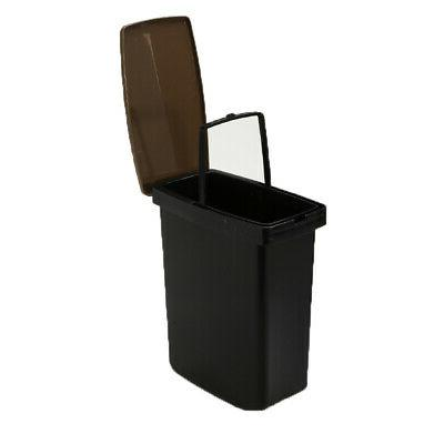 Trash Can Toilet Brush Bathroom Waste Garbage 6L Plastic BR