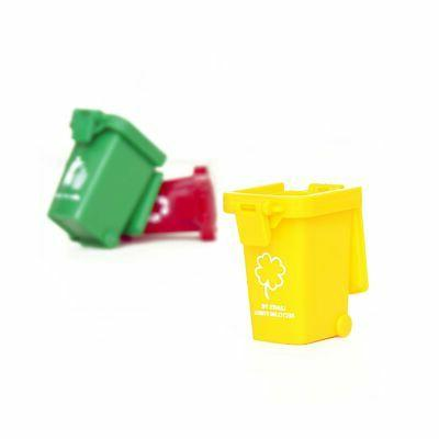 Original Color Trash Toy,Garbage Cans, Mini Curbside