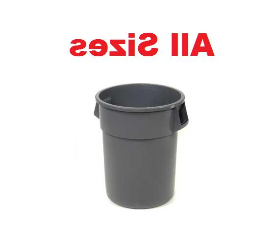 trash container garbage can gray all sizes
