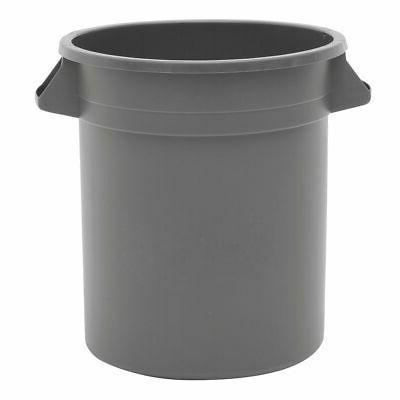 trash receptacle garbage can 10 gallon grey