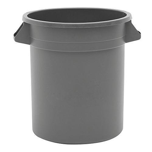 trash receptacle garbage can grey