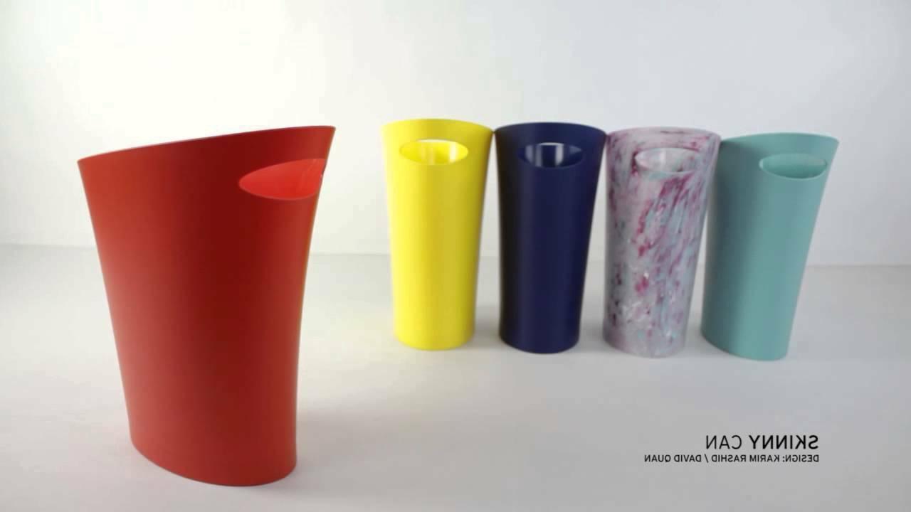 Trash Waste Modern Office Bathroom Basket Litter Garbage Bin 9 Colors