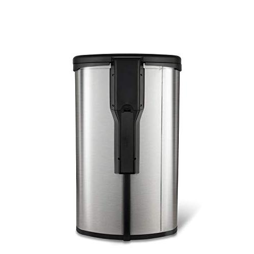 NINESTARS TTT-50-19 Tap Sensor Trash Can, 13 Gal Stainless Steel Base