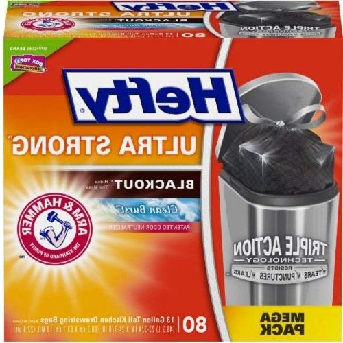 Ultra Strong Tall Kitchen Trash Bags 13 Gallon Garbage Waste