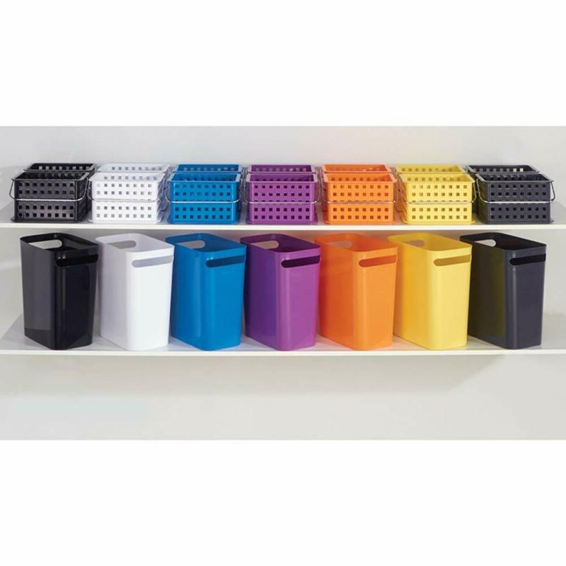 Interdesign Rectangular Can With Handles, Waste Basket Garbage Can