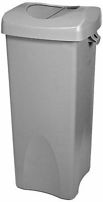 Rubbermaid Commercial Untouchable Trash Can with Swing Lid C