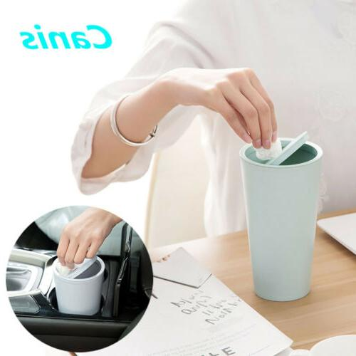 US Car Can Garbage Mini Holder Shake Cover