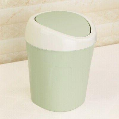 US Cute Small Waste Bin Basket Table Trash