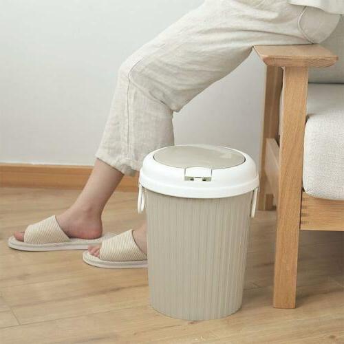 US Plastic Can Garbage Bin Home Bathroom Basket
