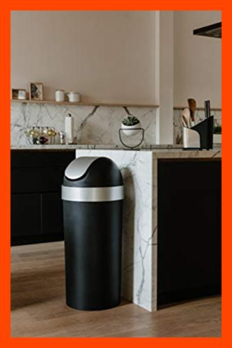 Venti 16 Gal Swing Top Kitchen Trash Can – LARGE Garbage For