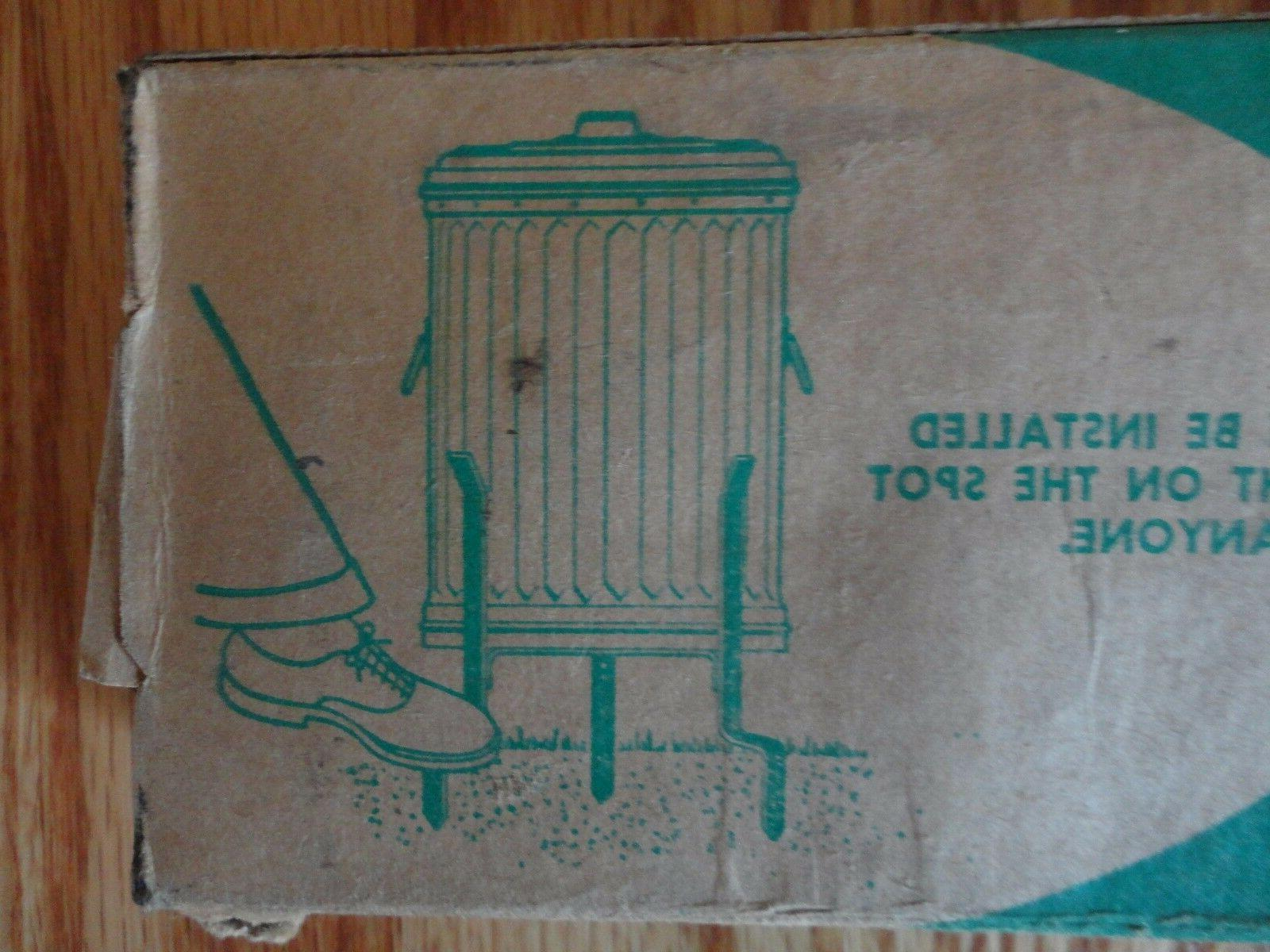 Vintage Atlas Manufacturing Garbage Can Stand Trash Can Holder NIB